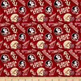 Sykel Enterprises NCAA- Florida State 1178 Tone on Tone Maroon/Gold/Black/White, Fabric by the Yard