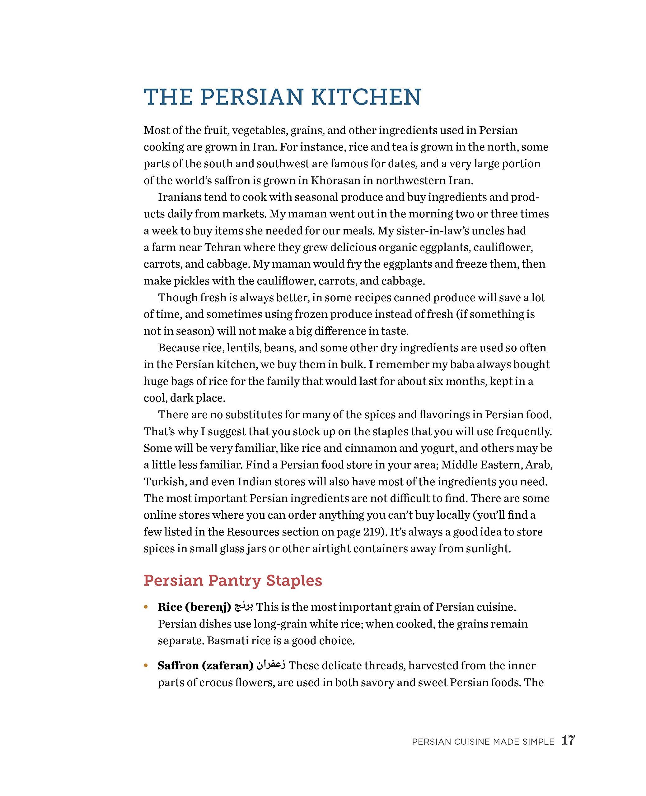 The Enchantingly Easy Persian Cookbook: 100 Simple Recipes For Beloved  Persian Food Favorites: Shadi Hasanzadenemati: 9781623157630: Amazon:  Books