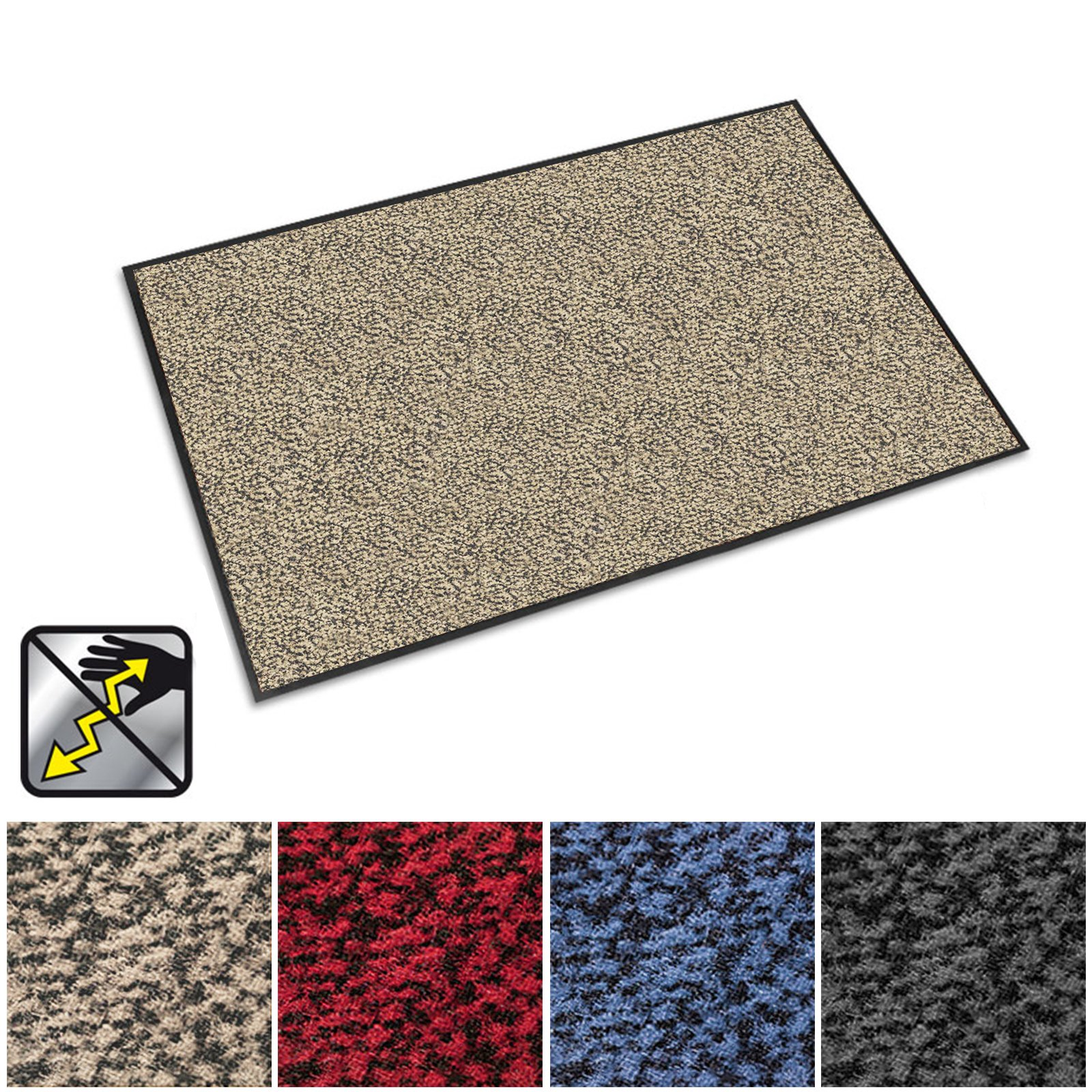 casa pura Anti-Static Entrance Mat | Indoor and Outdoor Front Door Mat | Entry Rug for Home and Business | Beige | 48'' x 72''