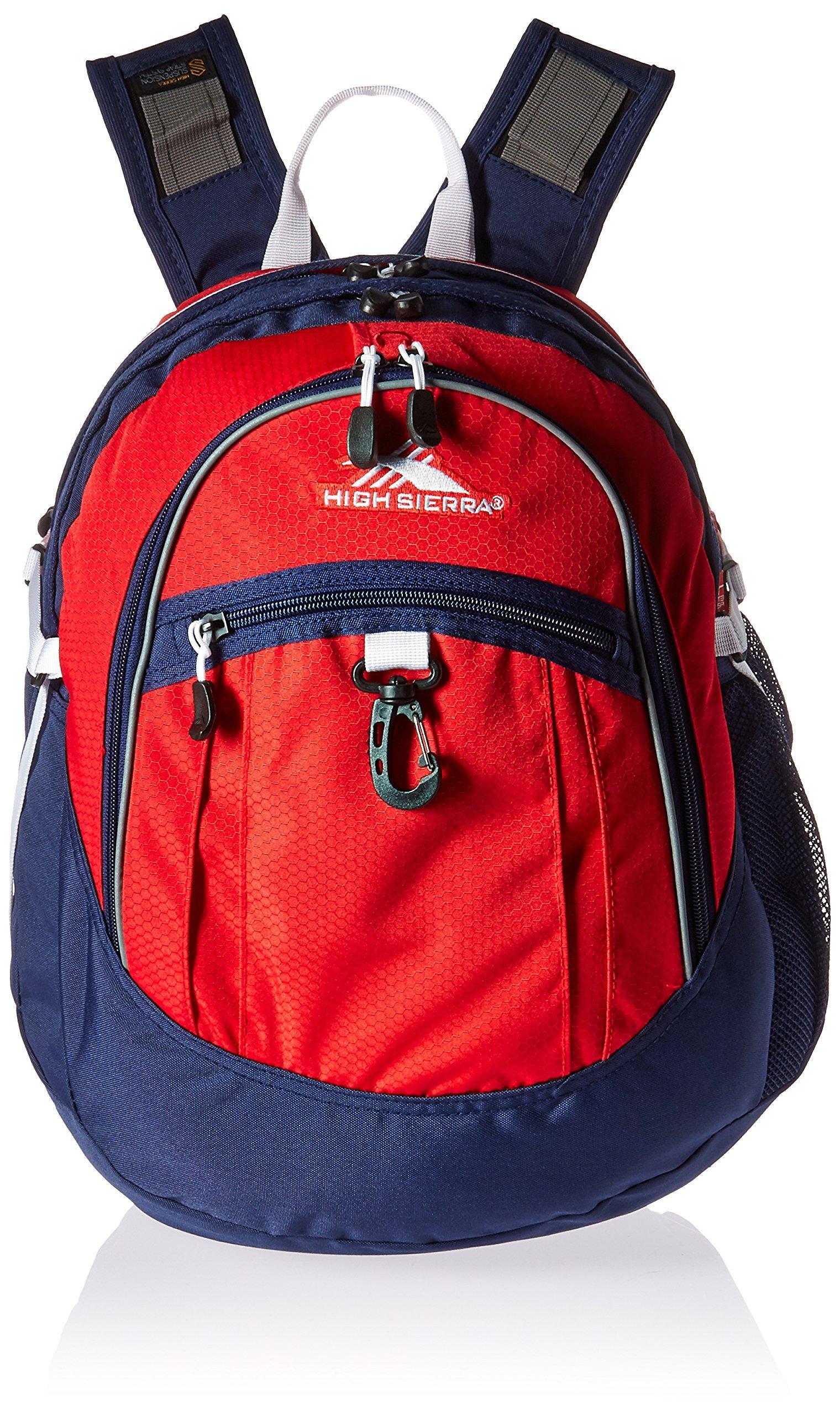 High Sierra Fatboy Backpack, Crimson/True Navy/White