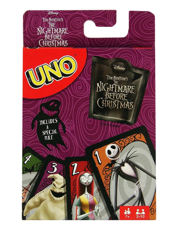 Amazon.com: Disney Tim Burtons Nightmare Before Christmas Uno Card ...