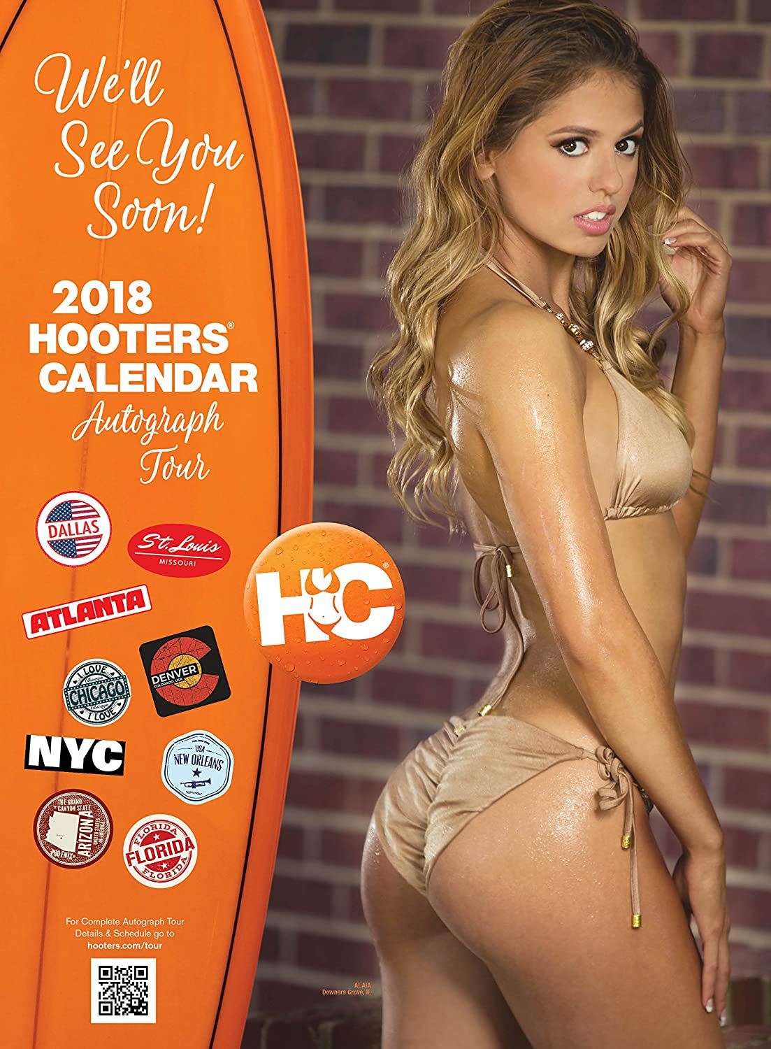 Hooters Calendar May : Amazon hooters calendar office products