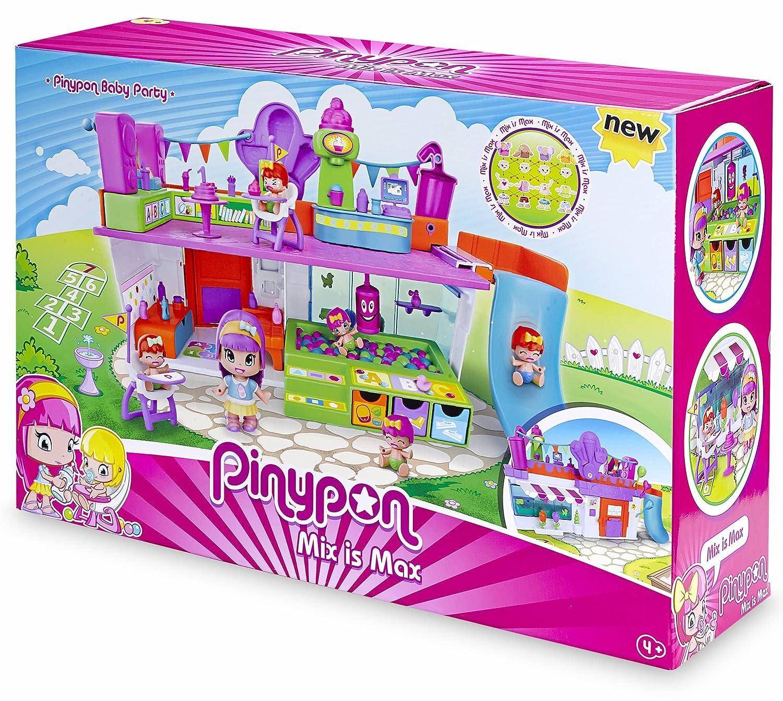 Pinypon - 700013640 - Mini Poupée - Coffret Espace de Jeux + 3 Figurines Famosa
