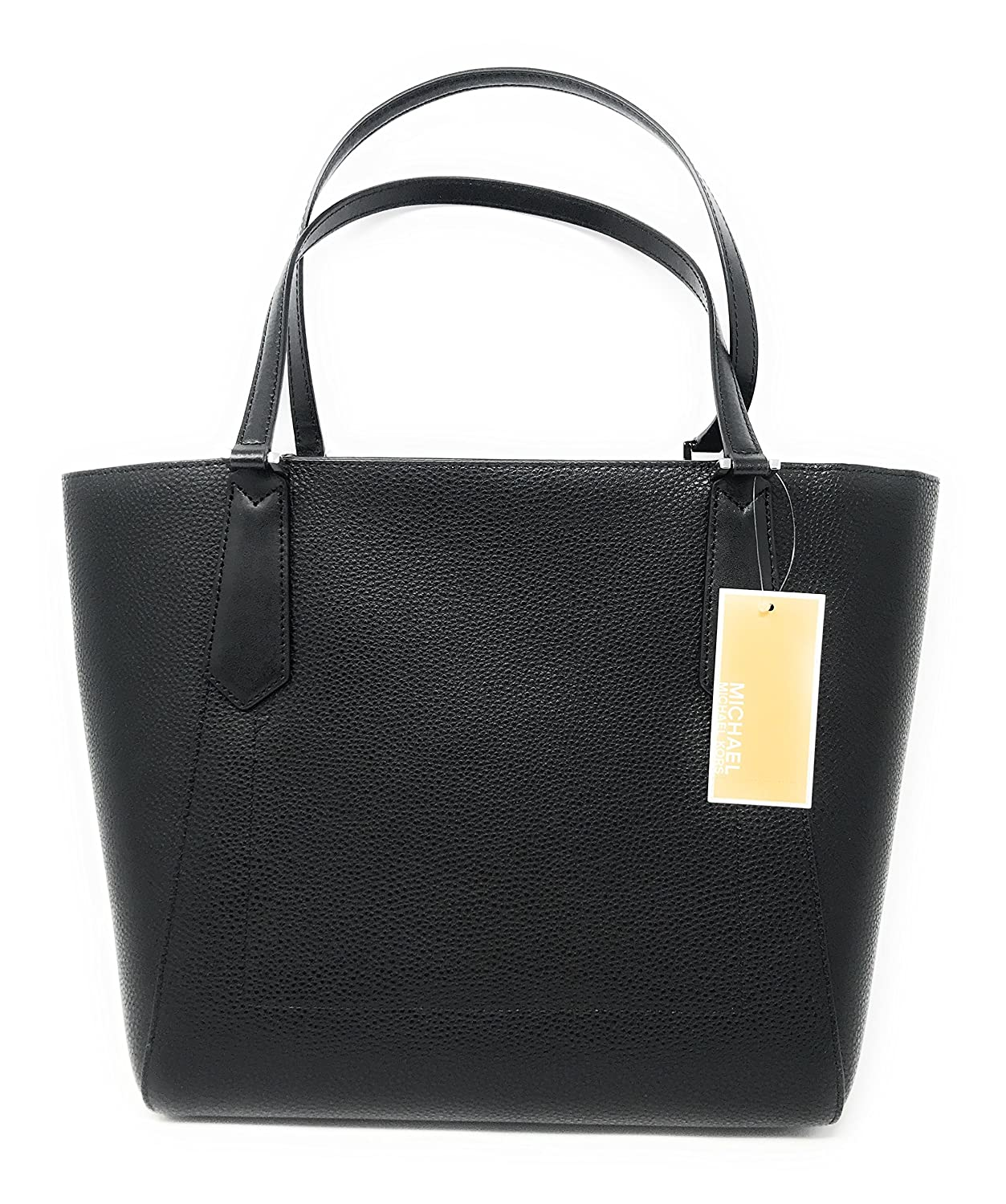 f666dc4569102 Amazon.com  Michael Kors Kimberly LG Bonded Leather Tote Bag in Black   Clothing
