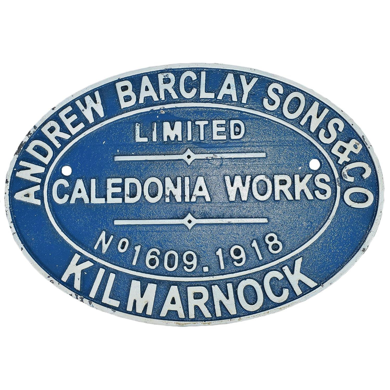 Andrew Barclay Railway Cast Iron Sign Plaque Wall Garage Train Shop Kilmarnock AB Tools