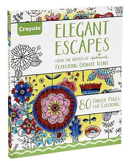 Amazon.com: Crayola Elegant Escapes Coloring Book: Crayola, Hallmark ...