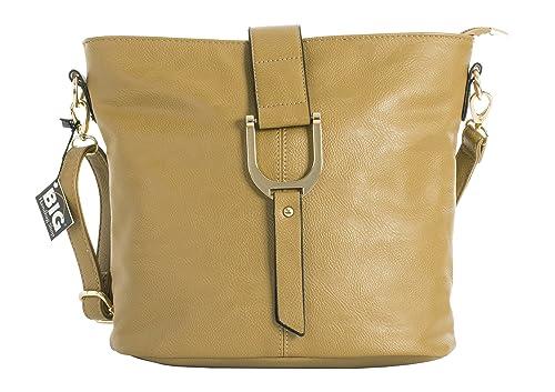 faf7c66c8b Big Handbag Shop - Sac à main style seau pour femme porté épaule/bandoulière  -