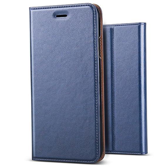 hot sale online e93b8 24127 iPhone Xs Case, iPhone X Case,B BELK[Simple Retro Style] Handmade Soft  Leather Flip Folio Slim Wallet Cover Case[Magnetic Closure][Credit Card ...