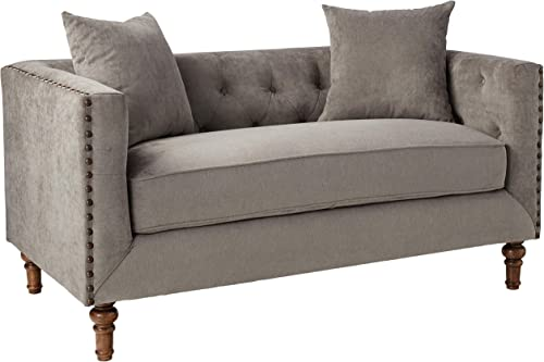 ACME Sidonia Gray Velvet Loveseat