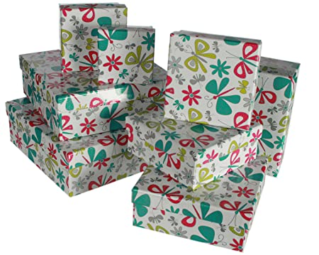 Butterflys And Flowers Gift Boxes X 8