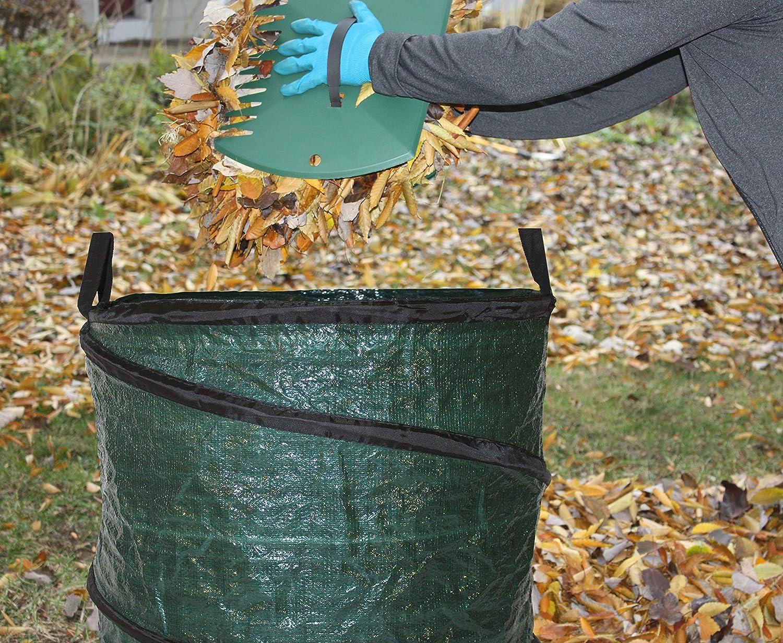 Bloem BAG2PK30G Collapsible Reusable 30 Gallon Pop Up Lawn Garden Leaf Bag 2-Pack Green