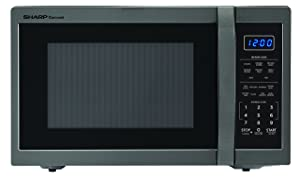 Sharp Microwaves ZSMC1452CH Sharp 1,100W Countertop Microwave Oven, 1.4 Cubic Foot, Black Stainless Steel