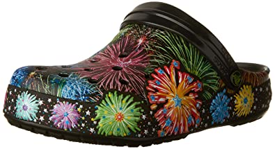 Unisex Crocband Fireworks Clog Mule