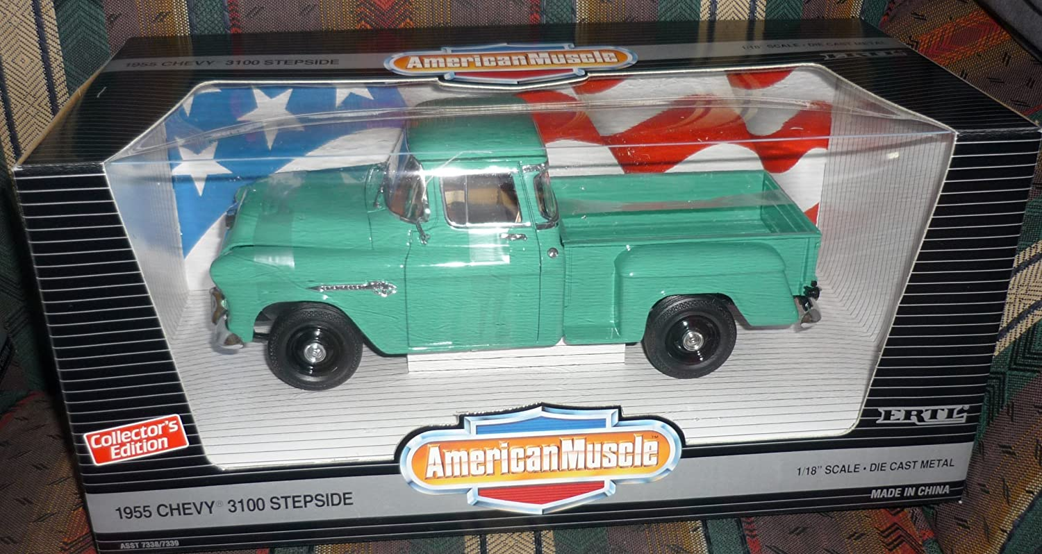 Amazon.com: American Muscle 1955 Chevy 3100 Stepside: Toys & Games