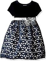 Blueberi Boulevard Baby Girls' Ss Velvet Cutout Dress