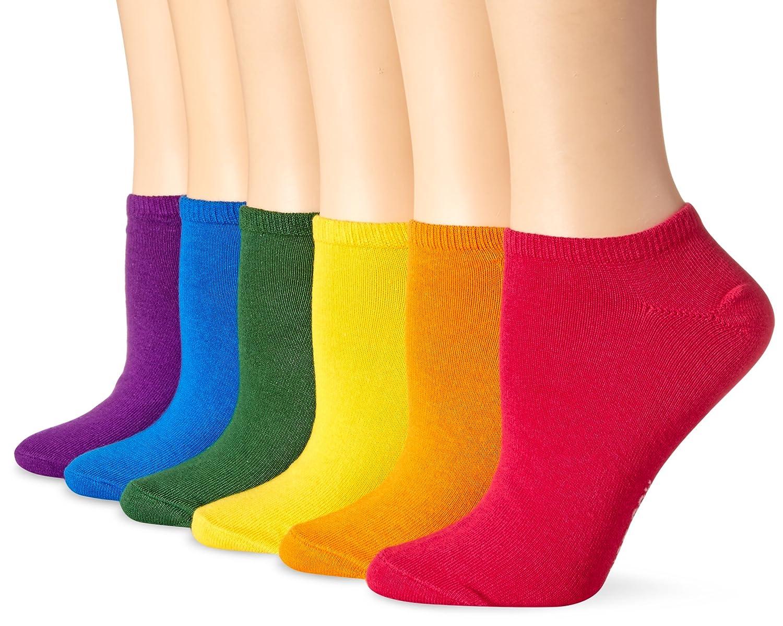 Hot Sox Women's Solid Ped 6 Pack Sock HO000072PK-WEB-C