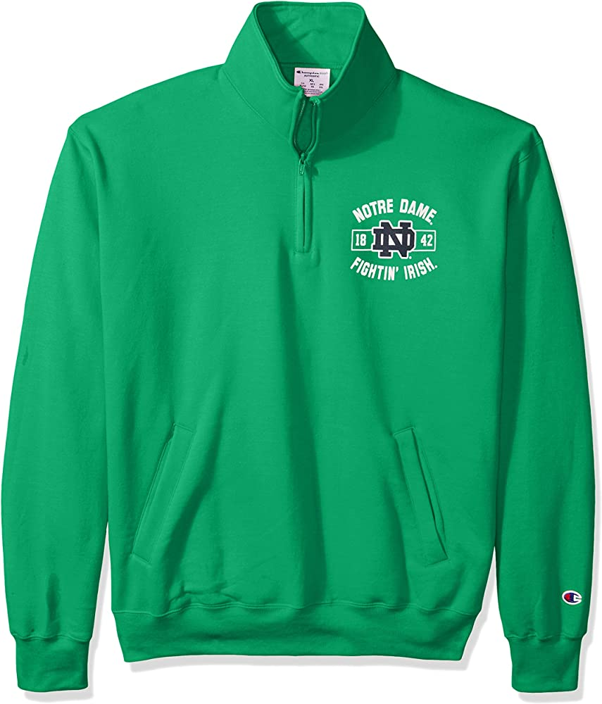 Champion NCAA Mens Powerblend Cotton-Poly 1//4 Zip Pullover