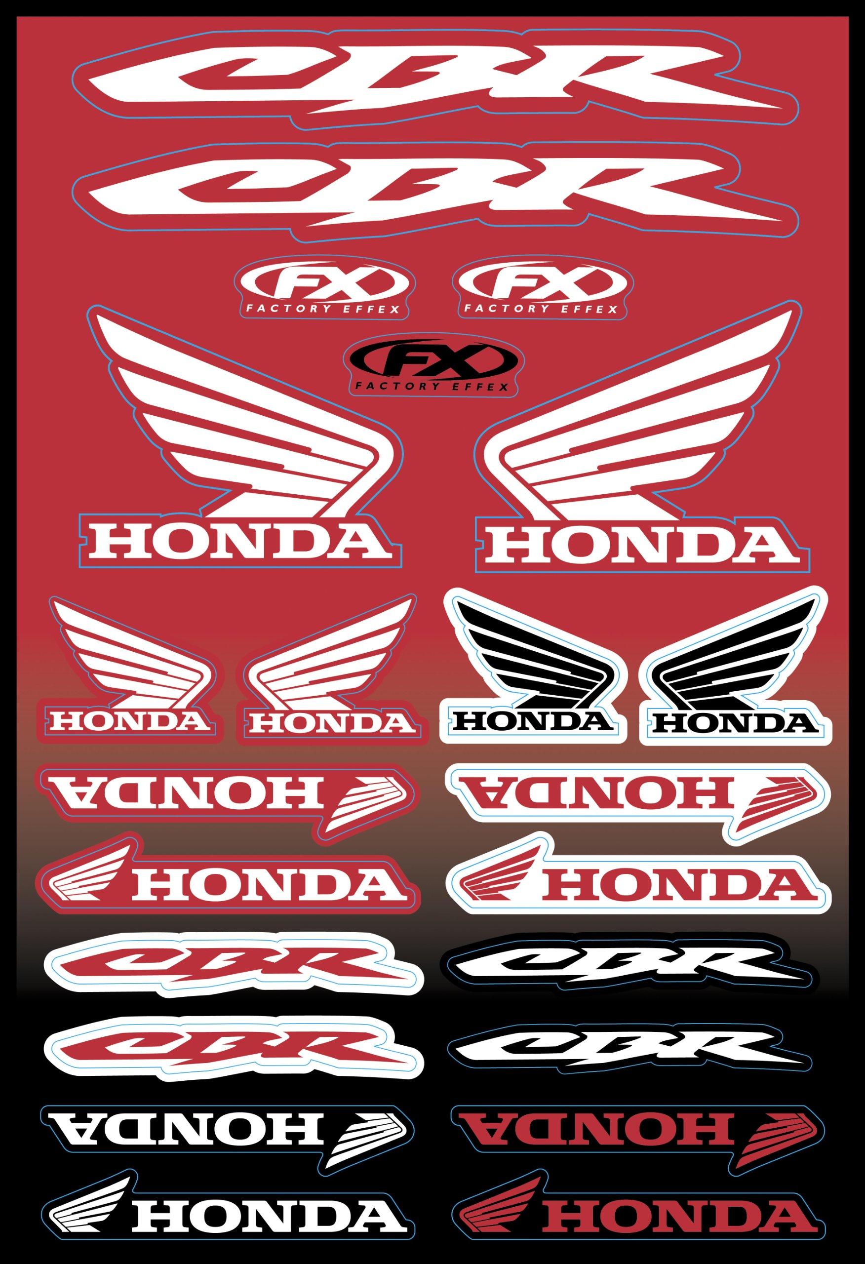 Factory Effex 15-68300 OEM Universal Graphic Kit for Honda