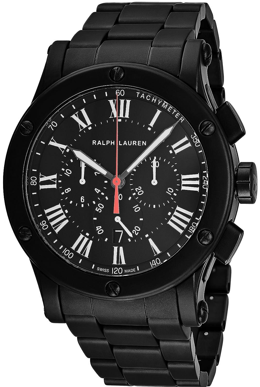 Ralph Lauren Sporting Chronograph Black Ceramic, Swiss Made Watch, Black Watches, Tachymeter