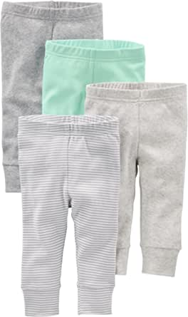 Simple Joys by Carter's Paquete de 4 Pantalones. - Infant-and-Toddler-Pants Unisex bebé