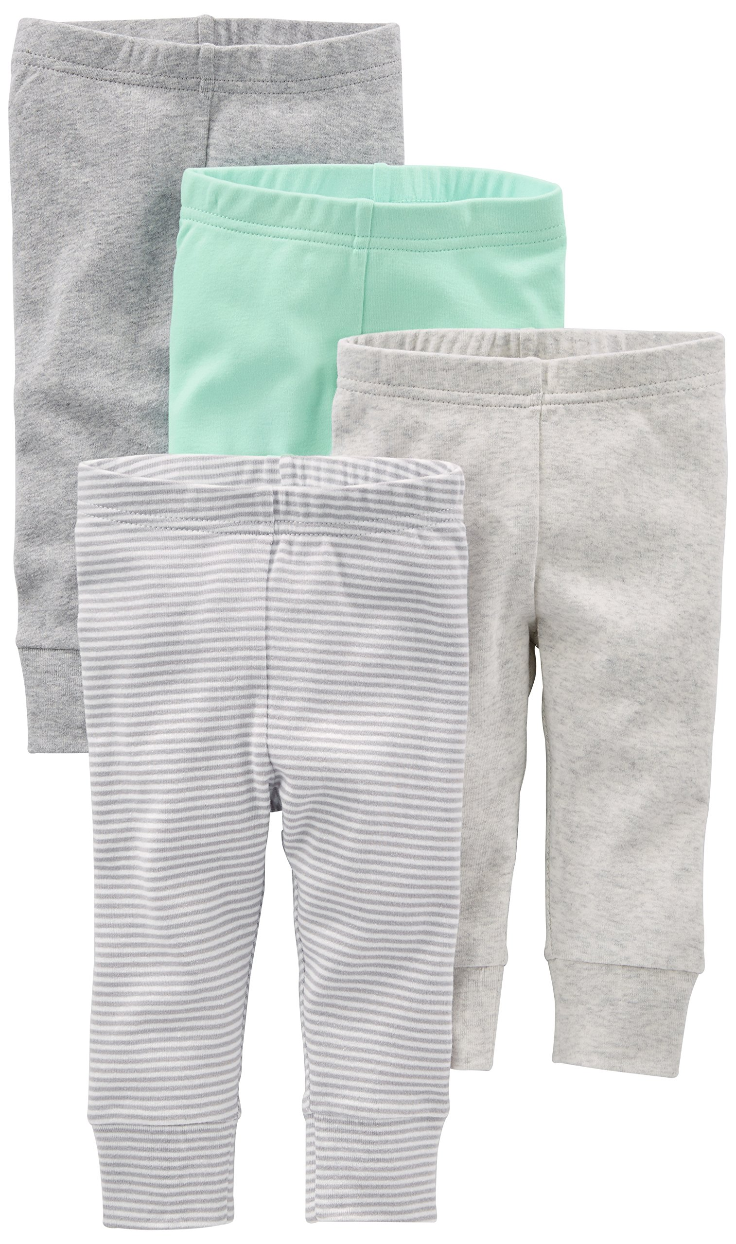 Simple Joys by Carter's Baby 4-Pack Pant, Gray/Mint, 18 Months