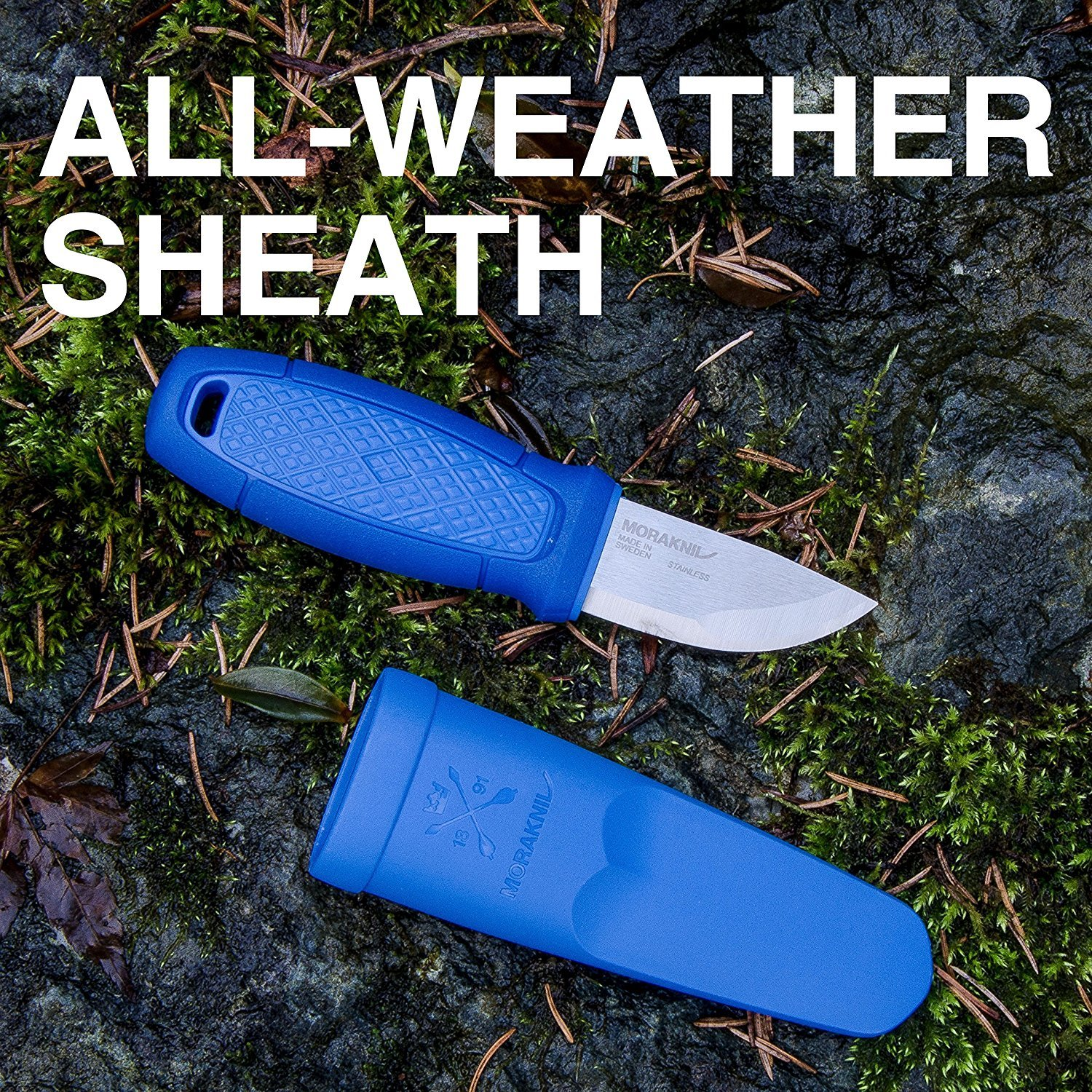 Morakniv Eldris Fixed-Blade Pocket-Sized Knife with Sandvik Stainless Steel Blade and Plastic Sheath, Blue, 2.2 Inch by Morakniv (Image #2)