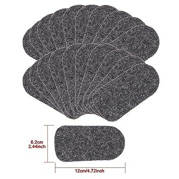 25 Pastillas de fieltro/limpiaparabrisas de repuesto para facilitar la conmutación de limpiadores de mesa de pizarra con fieltro reemplazable por ...