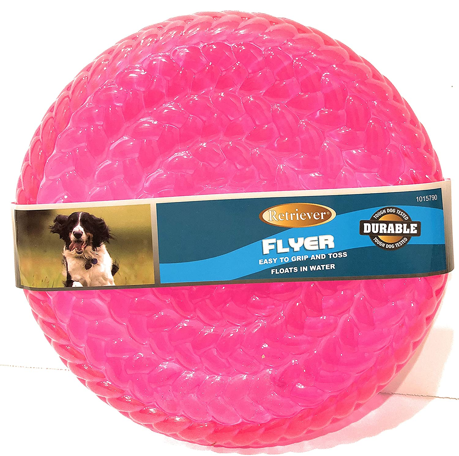 Tractor Supply Company, Retriever Rubber Frisbee Flyer Dog Toy, Assorted colors, 9 oz.
