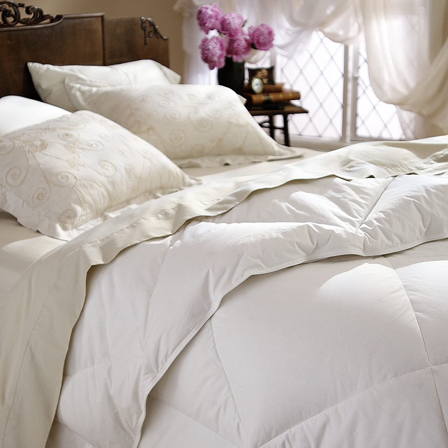 Restful Nights All Natural Down Comforter King 101x86 Inch 29oz