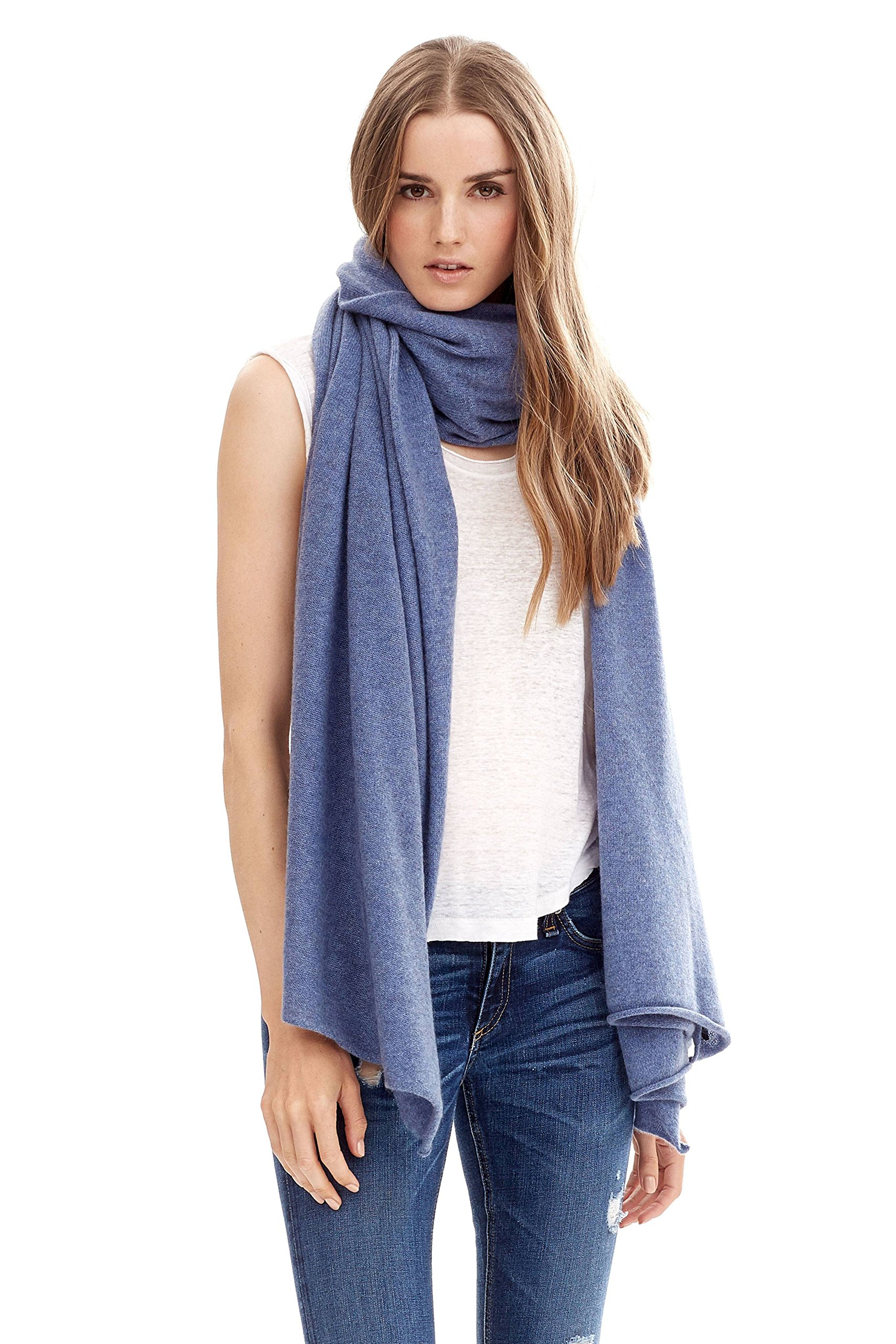NAKEDCASHMERE Women's Karlie Wrap O/S French Blue