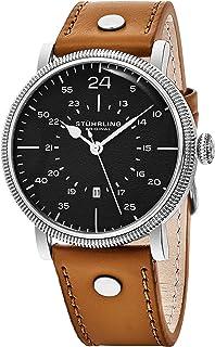 Stuhrling Original Reloj de pulsera analógico para hombre, movimiento de cuarzo, diseño casual,