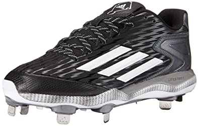 new arrival fc73b ad9da adidas Mens PowerAlley 3-M BlackWhiteCarbon Metallic 6.5 ...