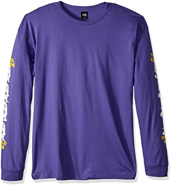 37df04a15a0e Amazon.com: Obey Men's Total Chaos Long Sleeve Tee, Purple, L: Clothing