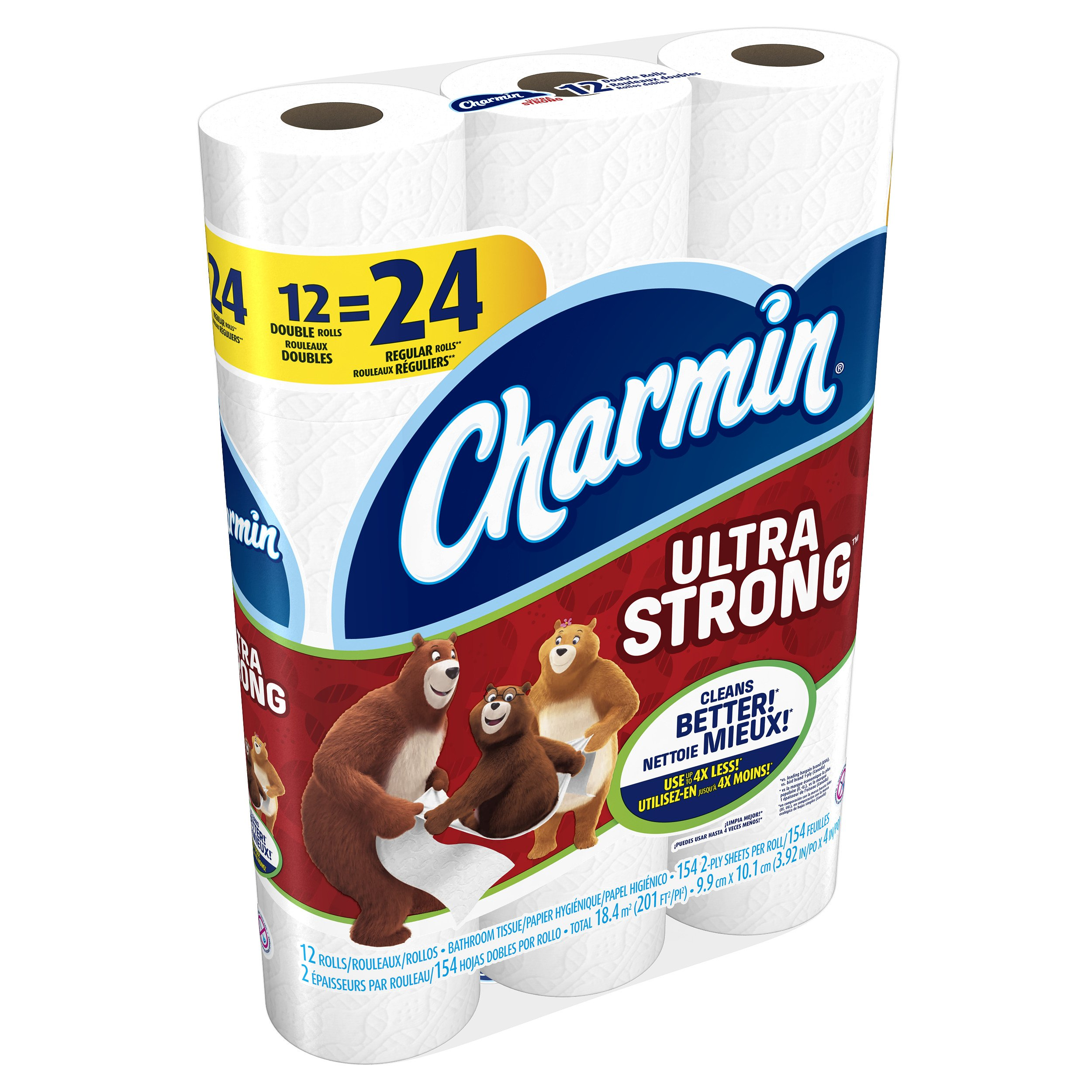 Charmin Ultra Strong Toilet Paper, Double Roll, 12 Count