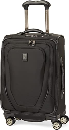 Travelpro Crew 10-Softside Expandable Luggage with Spinner Wheels, Black, Carry-On 20-Inch