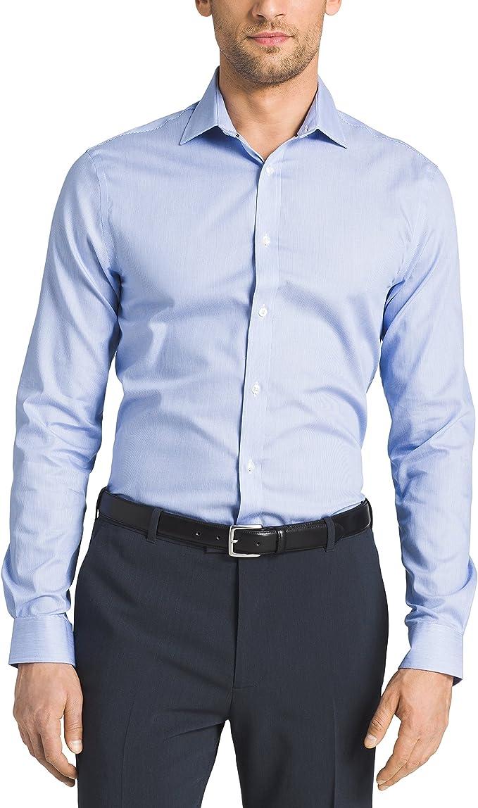 Choose SZ//color Details about  /Tommy Hilfiger Men/'s Non Iron Slim Fit Stripe Spre
