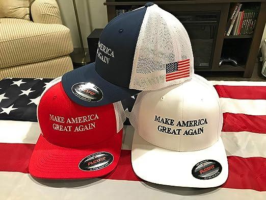 edeb4725b Flexfit Men's Two-Tone Stretch - Make America Great Again Hat at ...