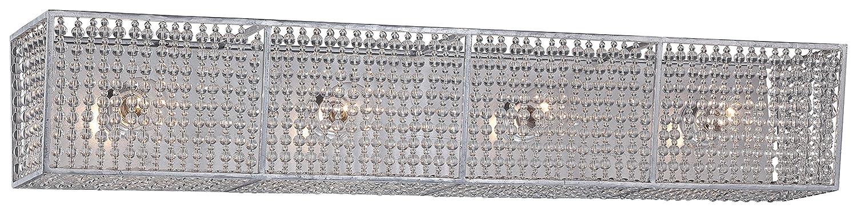 Metropolitan n2734 – 598 Saybrook Vanity、4-light合計240ワット、Catalinaシルバー B00WOL00G2