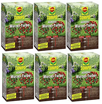 6 x 700 g Compo agrosil raíz de Turbo Hierro Fertilizante soluble: Amazon.es: Jardín