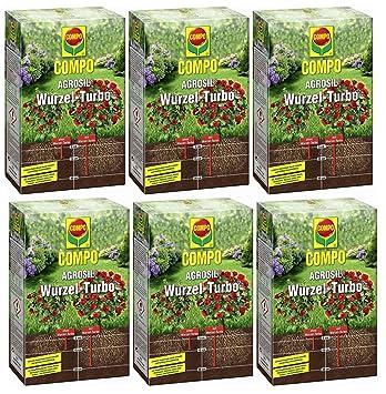 6 x 700 g Compo agrosil raíz de Turbo Hierro Fertilizante soluble: Amazon.es: Jardín