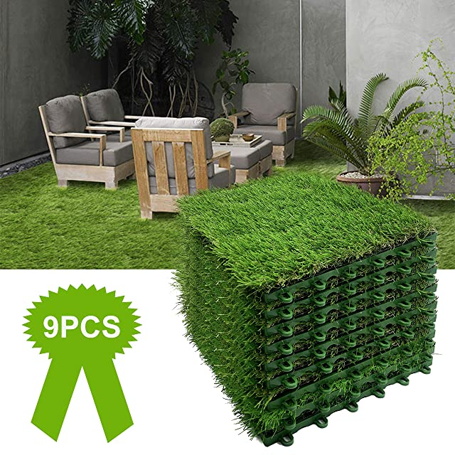 Reliancer 9PCS Artificial Grass Turf