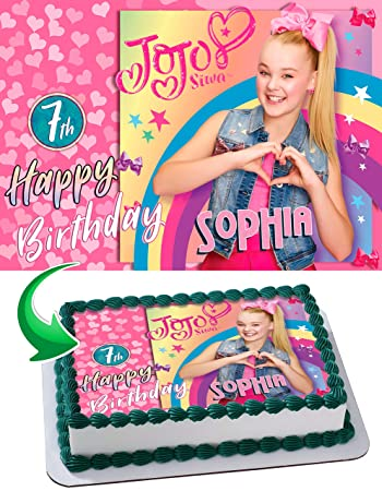 Image Unavailable Not Available For Color JoJo Siwa Edible Cake Topper