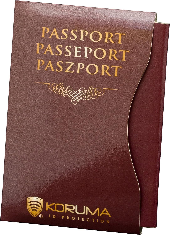 Koruma RFID Bloqueo de pasaporte biométrico Protector de identificación antirrobo para viajes de vacaciones (BR 2 unidades): Amazon.es: Equipaje