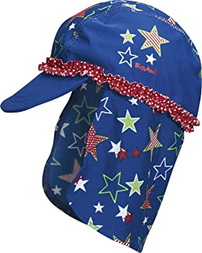 e11d053e3e2 Playshoes Girl s UV Sun Protection Swim Sun Hat Stars Cap  Amazon.co ...