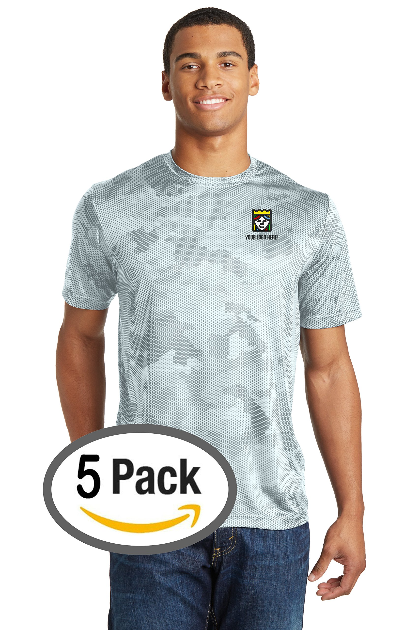 Queensboro Shirt Company Custom Embroidered Sport-Tek CamoHex Tee – Pack Of 5 by Queensboro Shirt Company
