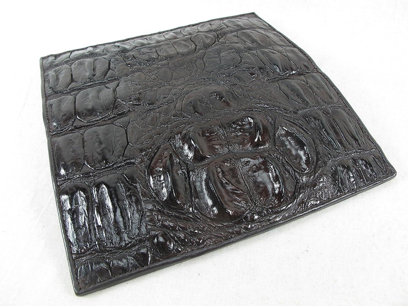PELGIO Genuine Crocodile Alligator Foot Claw Skin Leather Handmade Wallet Brown