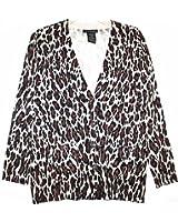 Grace Elements Women's Rayon Blend Leopard Print Boyfriend ...