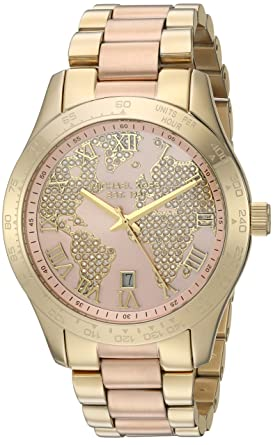 1b6b330df75b Amazon.com  Michael Kors Women s Layton Rose Gold-Tone Watch MK6476  Michael  Kors  Watches