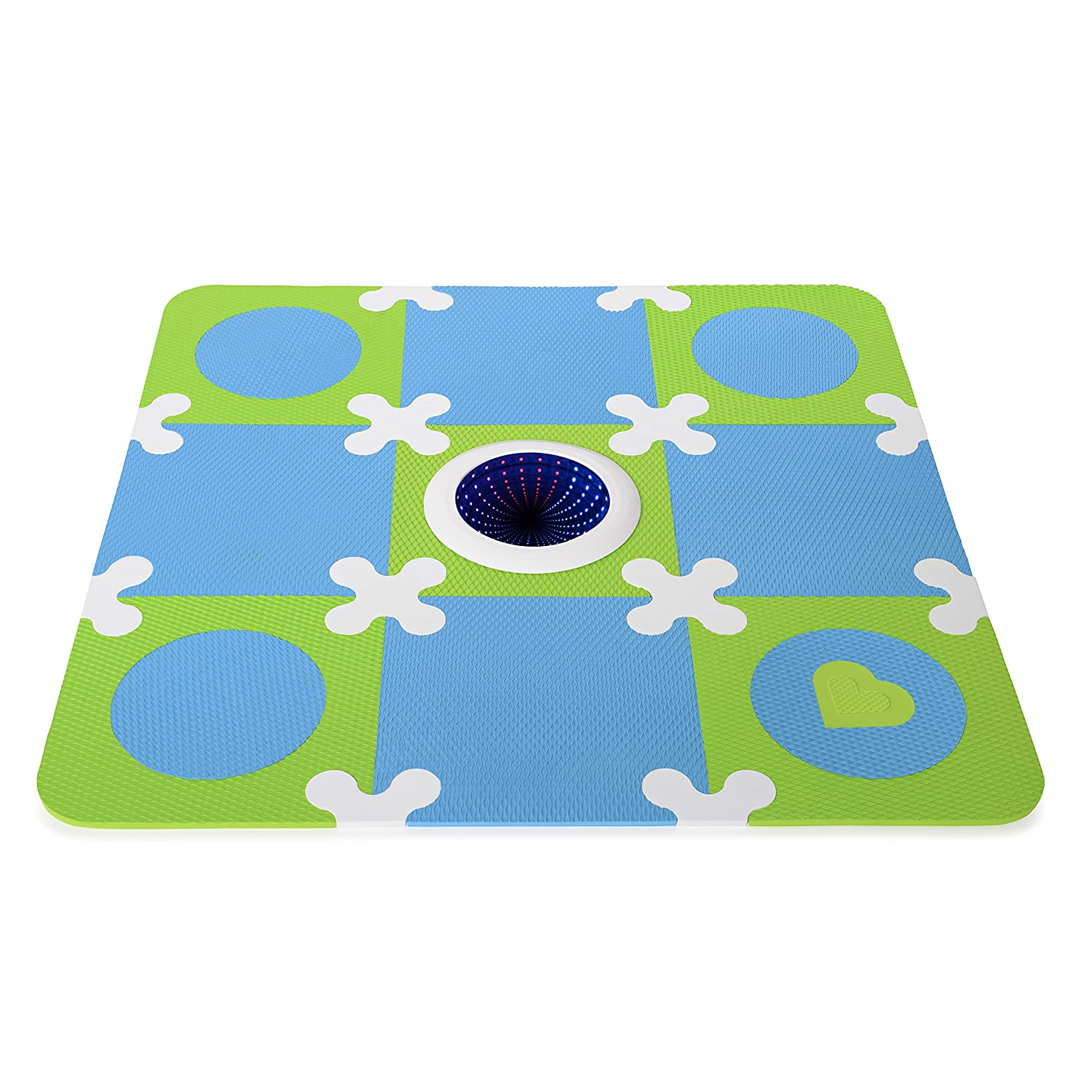 Munchkin Galaxy Light Up Foam Playmat, Blue Green