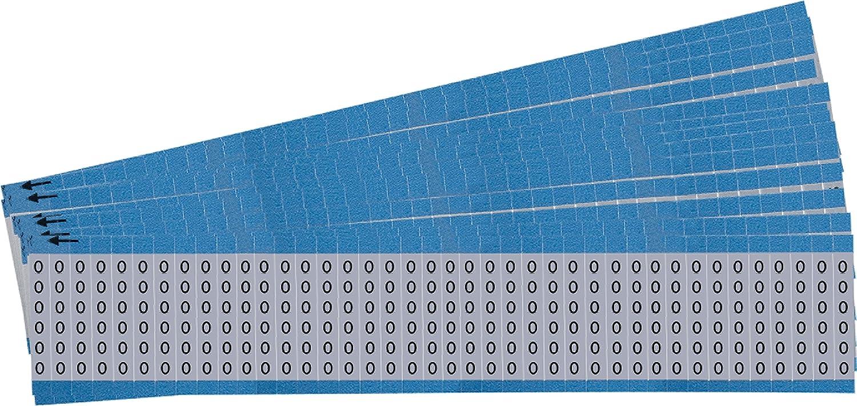 Pack of 25 Brady AF-O-PK Wire Marker 0.75 0.75 Black on Silver
